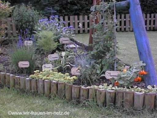 Kräutergarten mit Blumenstecker