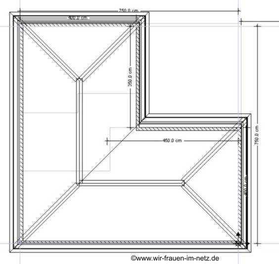 Der Grundriss vom Dachgeschoß