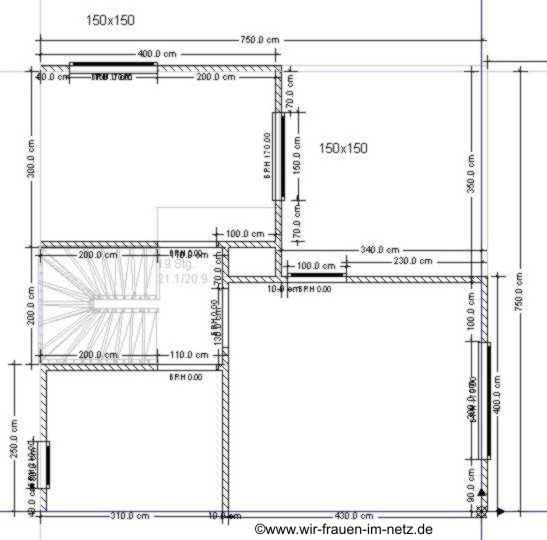 Der Grundriss von der ersten Etage