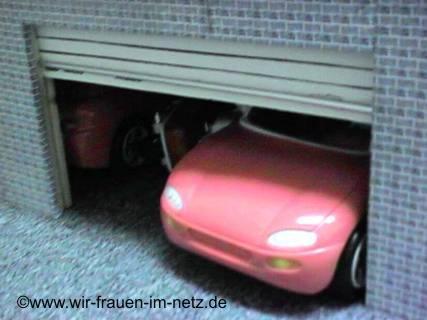 Kellergeschoß mit Garage und Rolltor.