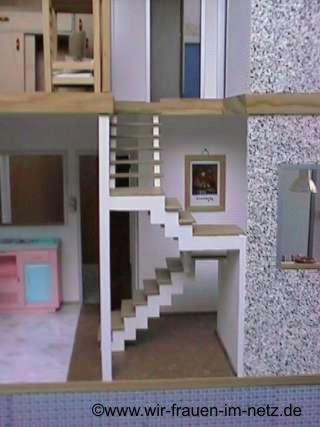 Die Treppe ins Obergeschoß