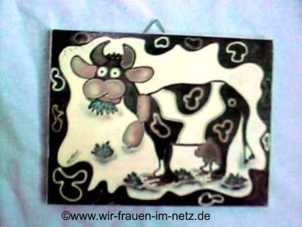 ein Kuhbild für's Schlafzimmer