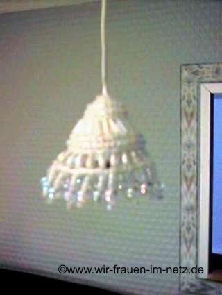 Wohnzimmerlampe mit Perlen