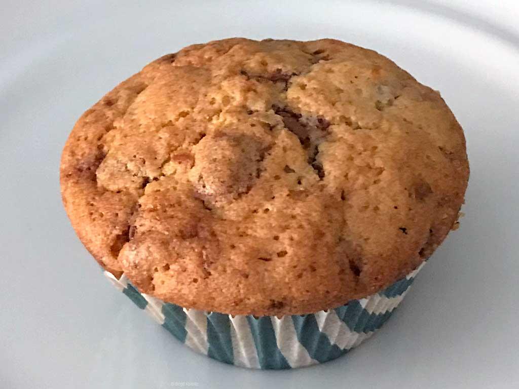 gebackener Muffin aus gefrorenem Teig