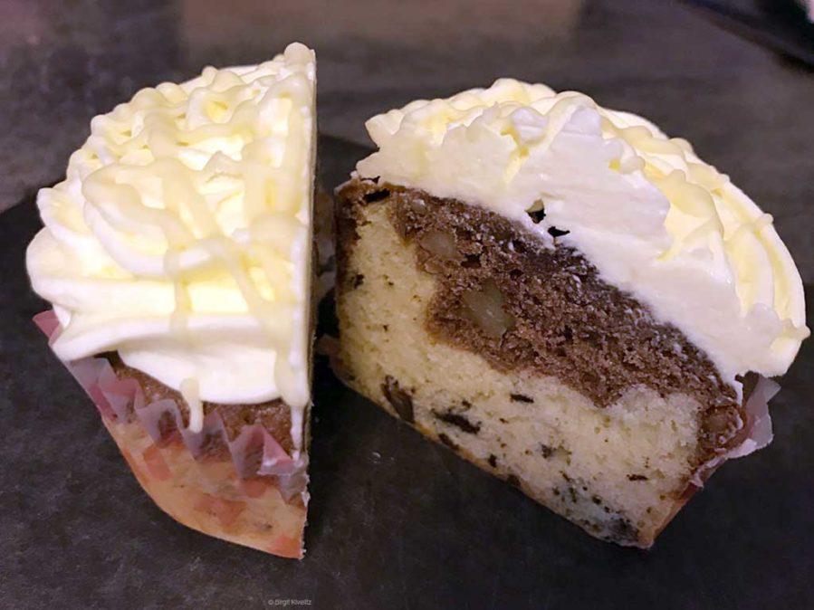 so sieht der Cupcake von innen aus